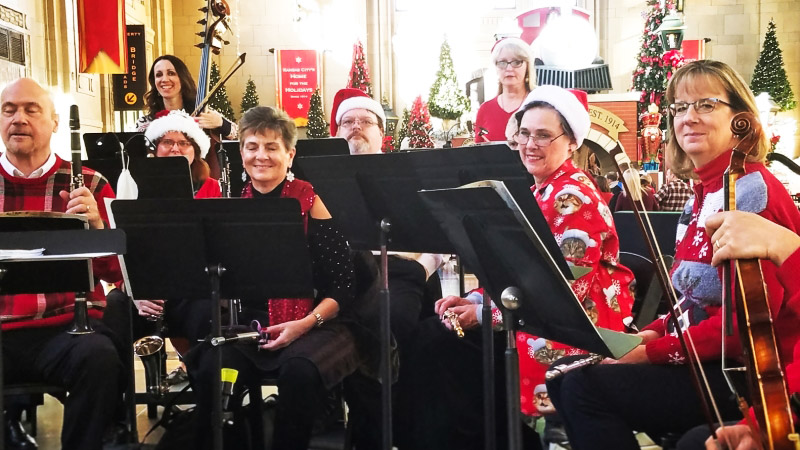 The Leawood Stage Company Orchestra performing for community theater in the Kansas City area