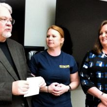 Leawood Stage Company Community Theatre near Kansas City donating to C KS Metro Animal Response Team